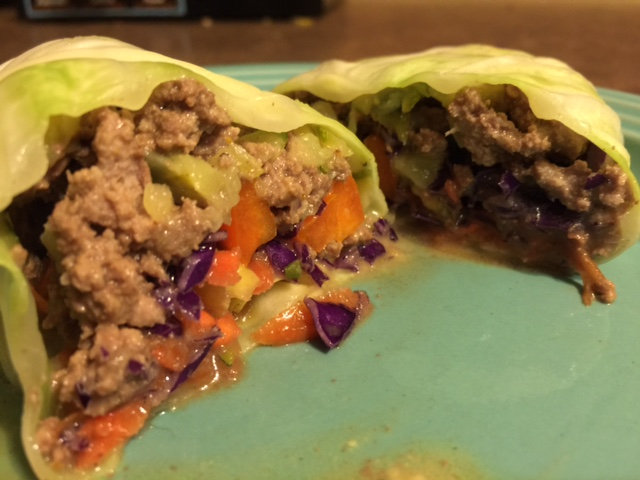 Cabbage Wrap with fresh veggies