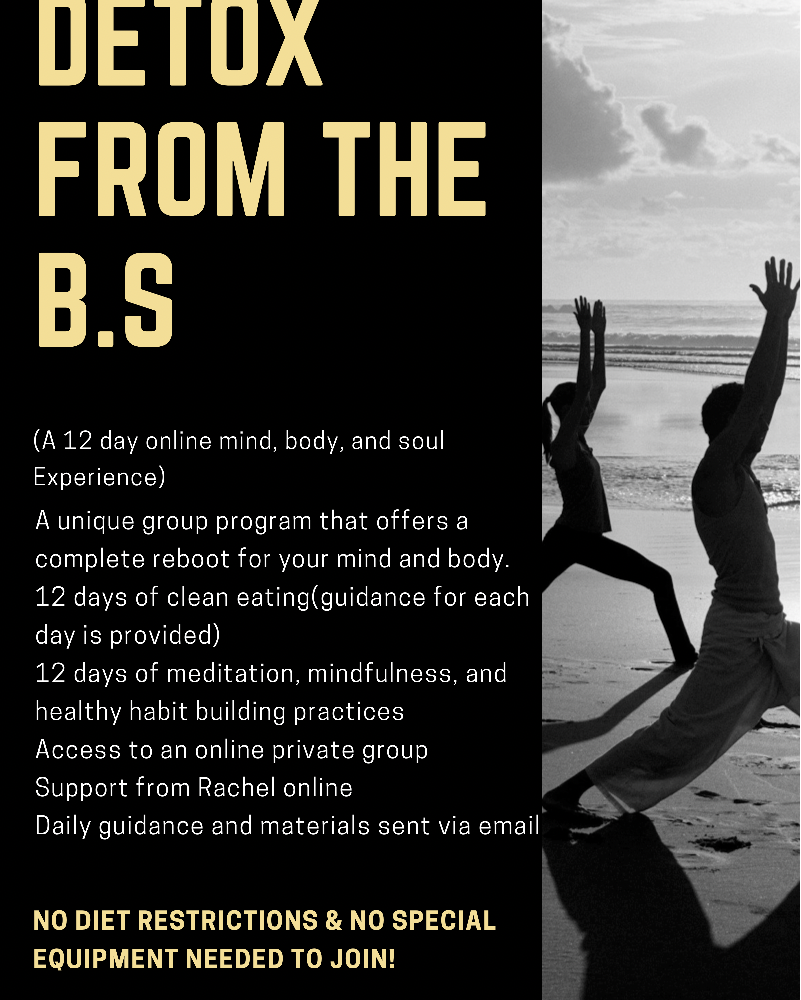 DETOX FROM THE BS; (a 12 day online mind, body, and soul experience)